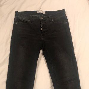 Free people grey skinny jeans